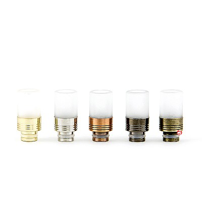 Smokey Glass Metal Drip Tip
