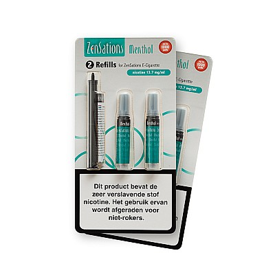 Zensations Set Cartomizer Menthol 12mg